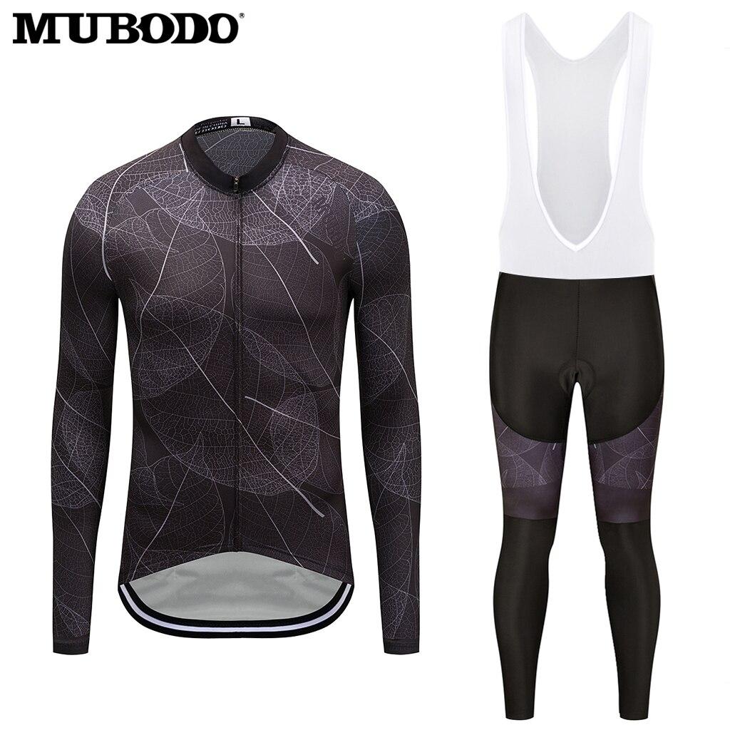 Sunscreen Riding Clothes Cycling Clothing Wear Bike MTB Jerseys Cycling Sets 2018 Mens Long Cycling Jersey Sets Long bib Pants