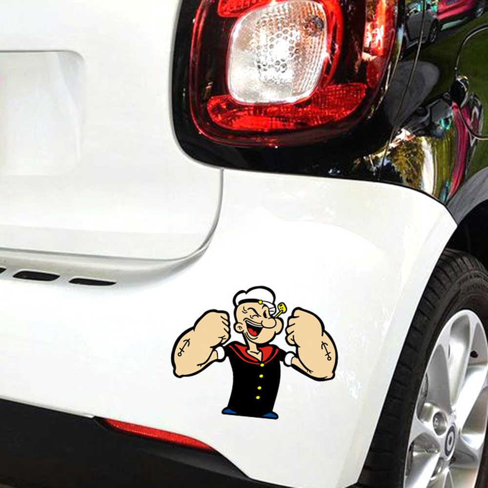 Autocollant et décalcomanie drôles d'action de Popeye de voiture d'aliauto pour Ford Focus Vw Skoda Polo Golf Skoda Toyoya Hyundai Peugeot