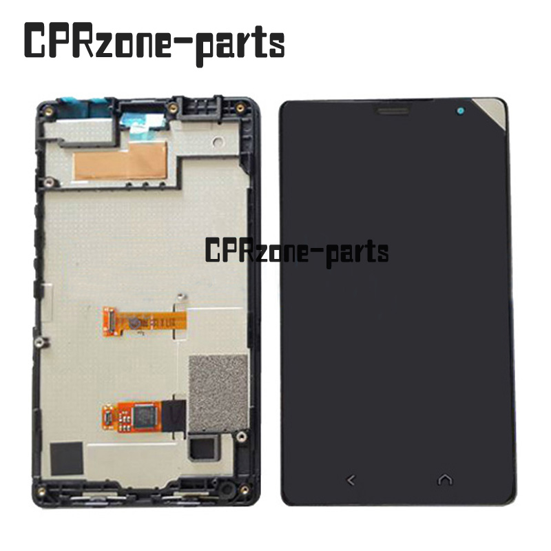 100% Warranty black LCD Screen Display With Touch Screen Digitizer + Frame Assembly For Nokia X+ X2 RM-1013 X2DS Dual Sim
