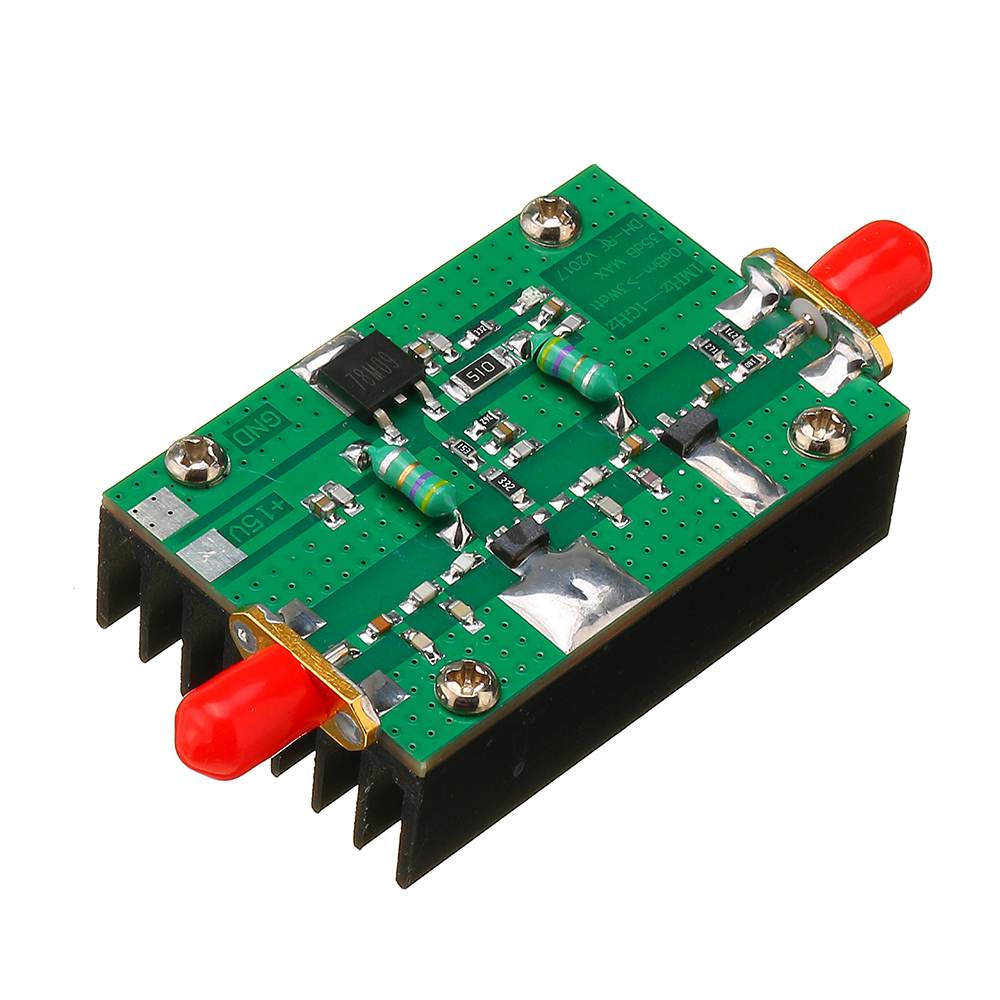 CLAITE 1MHz-1000MHZ 35DB RF Power Amplifier 3W HF VHF UHF FM Transmitter Broadband Circuit For Ham Radio