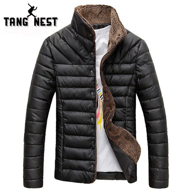 TANGNEST/2018 Для мужчин зимняя куртка теплые Повседневное универсальные Однобортный одноцветное Для мужчин пальто популярных два Цвета Размеры M-3XL mwm432