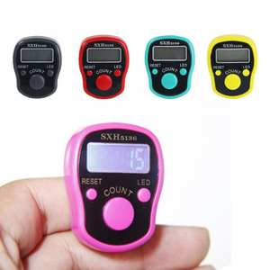 1pcs Portable LED Lights Luminous Ring Counter Plastic Accurate Tally Counter 3.8*3*1.8cm