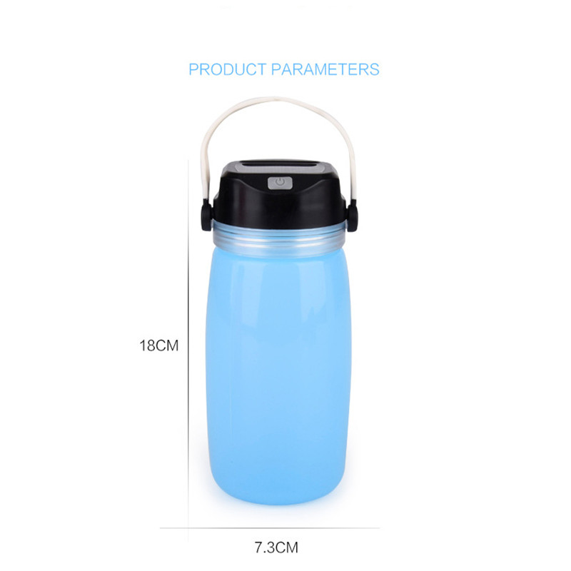 Portable LED Solar Panel Camping Bottle Cup Lights Waterproof Outdoor Lamp Chargeable Energy Saving Garland Emergency Lighting