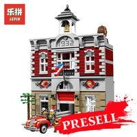 LEPIN 15004 2313Pcs City Street Creator Fire Brigade Model Building Kits Blocks Bricks Compatible LegoINGlys 10197