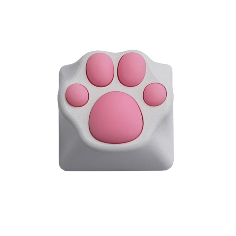 Cute Cat Claw Metal Keycaps For Mechanical Keyboard Soft Feel Cat Pad Key Cap Suitable For