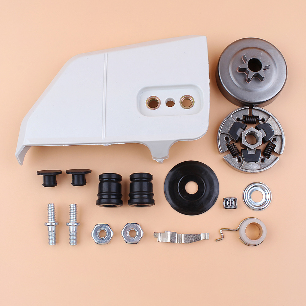 Clutch Drum Sprocket Cover Bar Nuts Studs AV Buffer Worm Gear Kit For STIHL 017 018 MS170 MS180 MS 180 170 Chainsaw Parts deppa sky case чехол для apple iphone 6 plus gray