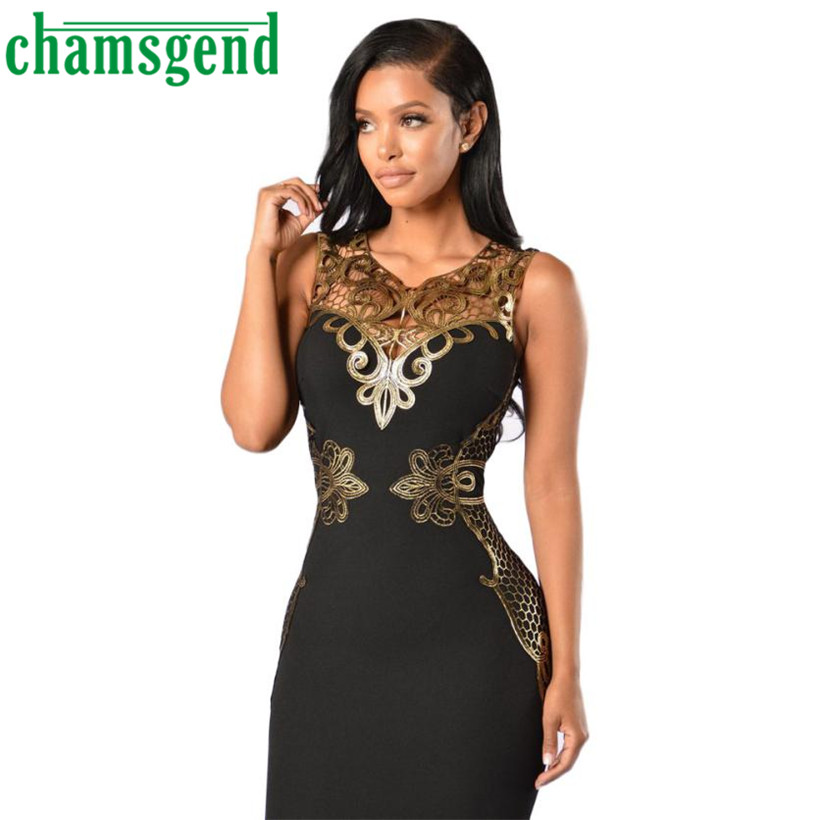 CHAMSGEND 2017 Sexy Women Summer Sheath Lace Bodycon Dress Slim - Women's Clothing - Photo 4