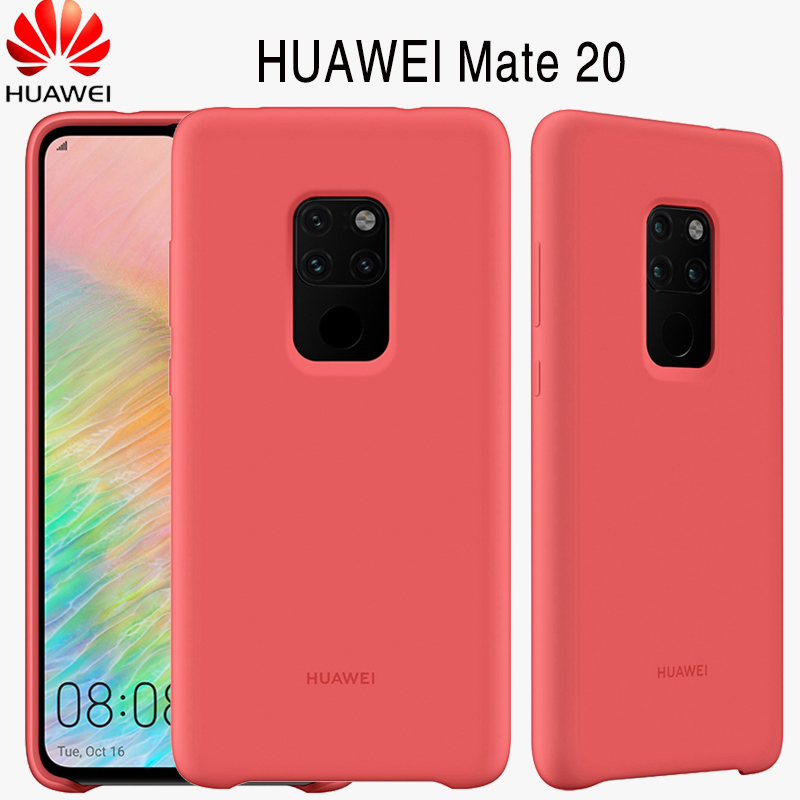 new arrivals c40e6 22d8f US $23.18 39% OFF|Huawei Mate 20 Pro Original Case Offical liiquid Silicone  Soft Protection Back Cover Huawei Mate 20 Case Mate20 Silicone Cover-in ...