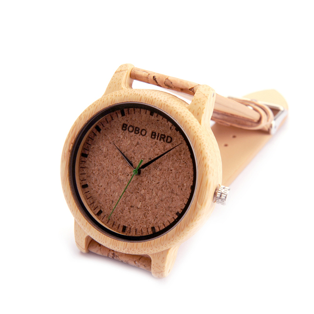 BOBO BIRD loves'Fashion Bamboo Wrist Watches Luxury Brand Quartz Wristwatch with Cork Band for Men Women Relojes Mujer 2017