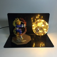 Creative Dragon Ball Z Vegeta Super Siah Table Lamp Spirit Bomb Single Light Bulb Led Night Light Set For Children