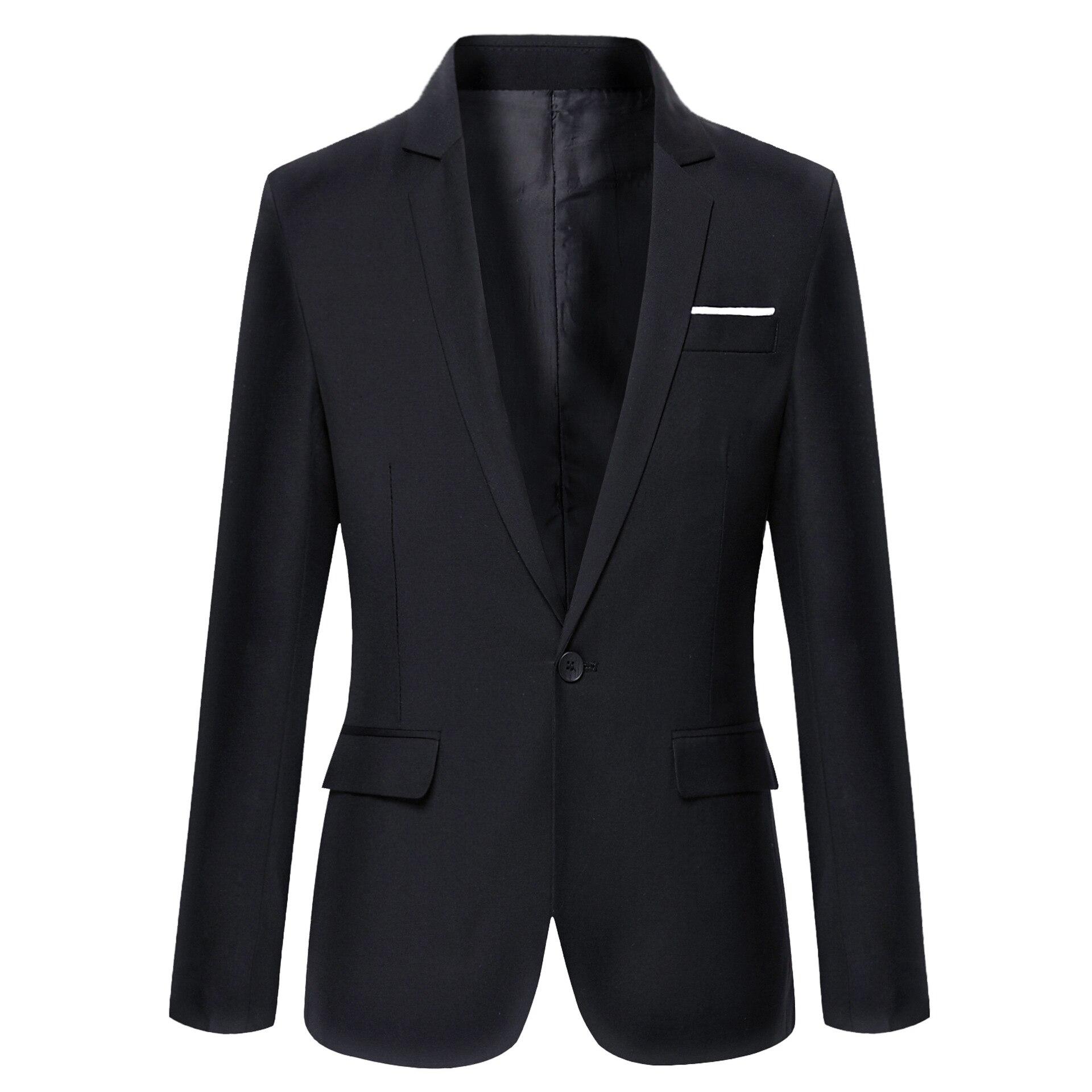 2019 Brand Clothing Autumn Suit Blazer Men Fashion Slim Fit Male Suits Casual Solid Color Masculine Blazer Size M-4XL