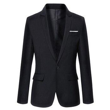 2019 Brand Clothing Autumn Suit Blazer Men Fashion Slim Fit Male Suits Casual Solid Color Masculine Blazer Size M-4XL Men Blazers
