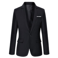 2019 Brand Clothing Autumn Suit Blazer Men Fashion Slim Fit Male Suits Casual Solid Color Masculine Blazer Size M 4XL