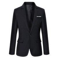 2019 Brand Clothing Autumn Suit Blazer Men Fashion Slim Fit Male Suits Casual Solid Color Masculine Blazer Size M 4XL