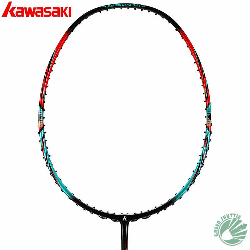 2019 Genuine Kawasaki 30T High Rigidity Carbon Fiberr Tension 666 Ad Badminton Racket High Tension G5 Racquets With Gift