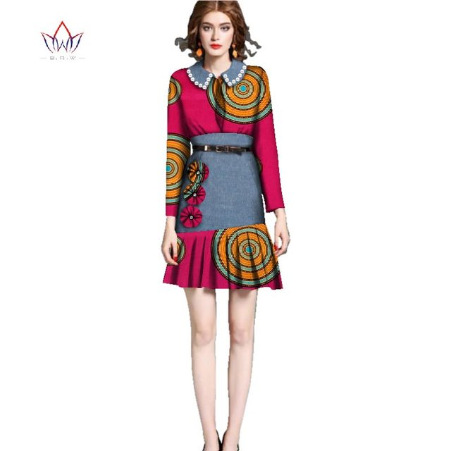 Dresses Plus Size Women african clothes for women peter pan collar ...