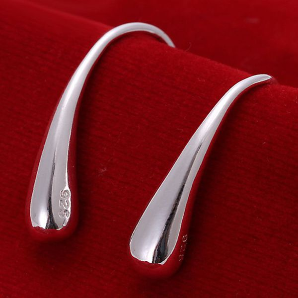 Wholesale High Quality Jewelry 925 Jewelry Silver Plated Fashion Waterdrop Earrings For Women Best Gift SMTE004