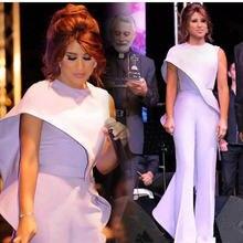 Лавандовые комбинезоны арабское выпускное платье круглый вырез