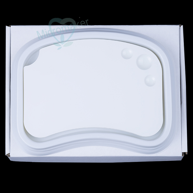 New 1PC Dental Lab Ceramic Palette Porcelain Mixing Watering Plate Wet Tray