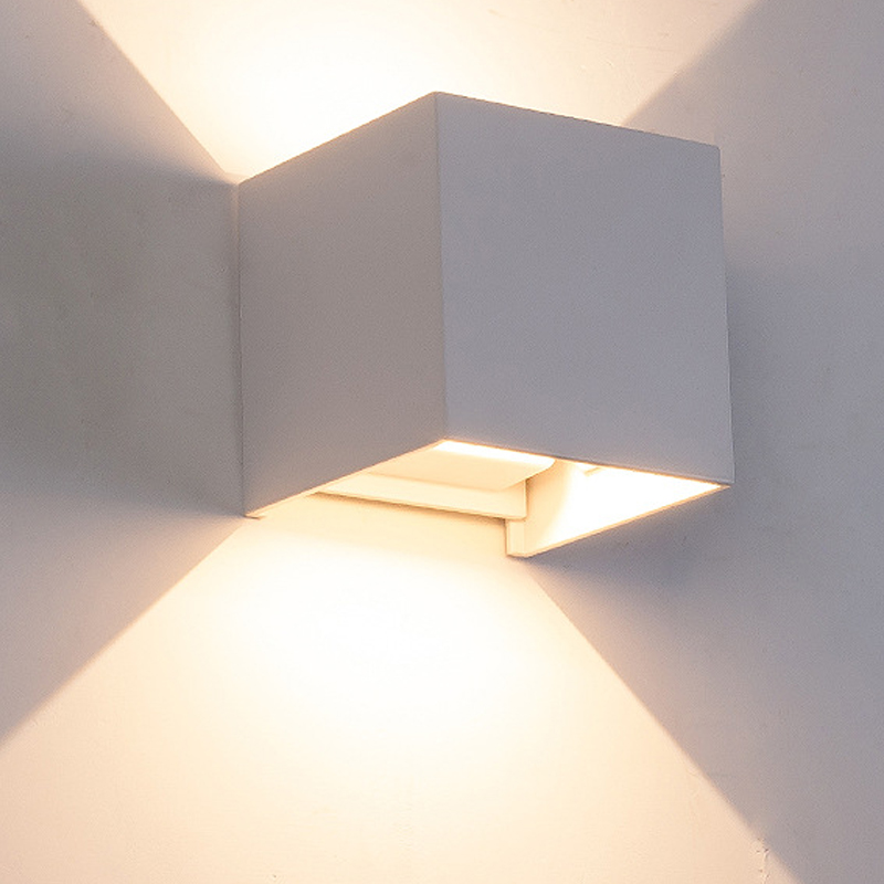 Led Lamps Modern Brief Cube Adjustable Surface Mounted 6w Outdoor Led Wall Lamp Waterproof Aluminum Wall Light Garden Light Sconce We Take Customers As Our Gods Led Outdoor Wall Lamps