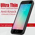 Ультра Тонкий Мощность Телефон Случаях Для Iphone 6 6 с Перезаряжаемые внешний Корпус Резервная Батарея Для iPhone 6 6 s Plus Power случае