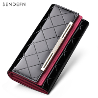 Hot Sale Cow Genuine Leather Purse Elegant Lady Clutch Women Wallet Card Holder Brand Wallet Carteira