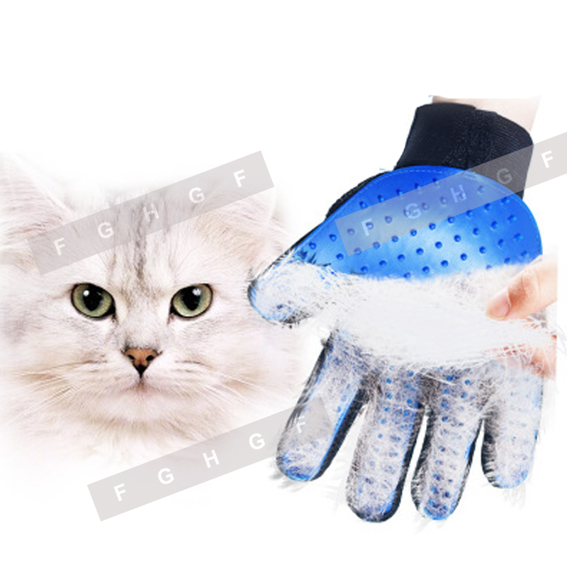 Silicone Cat Gloves Hair Comb Pet Bath Brush Gentle Efficient Massage Grooming And For Pet Washing Gloves Goods Hair Pet Finger #3