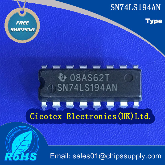 [Electronics Accessories] SN74LS194AN IC BI-DIR UNIV SHIFT REG 16-DIP