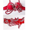 Stage Performance Plus size Luxury Belly Dancing Egyptian Costumes Oriental Style Rhinestone Bra Belt Belly Dance Costume 2pcs