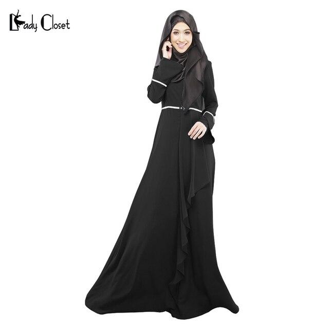 Оптовая турецкий мусульманин платье абая женщин стринги selvedge одежда мусульманского джилбаба исламские abayas vestidos longos одежда