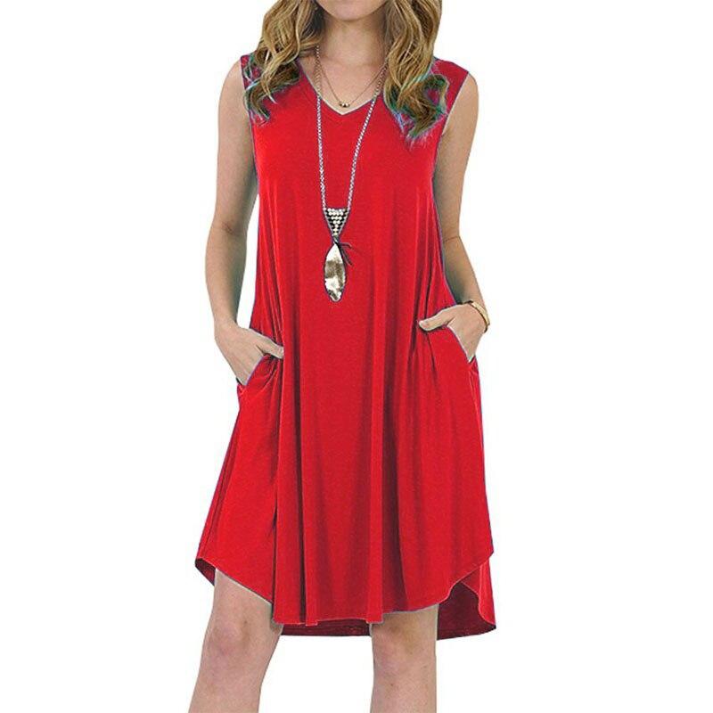 2019 Summer Dress Women Plus Szie 6XL Dress Sleeveless Boho Style Short Beach Dress Sundress Casual Shift Dresses Vestidos