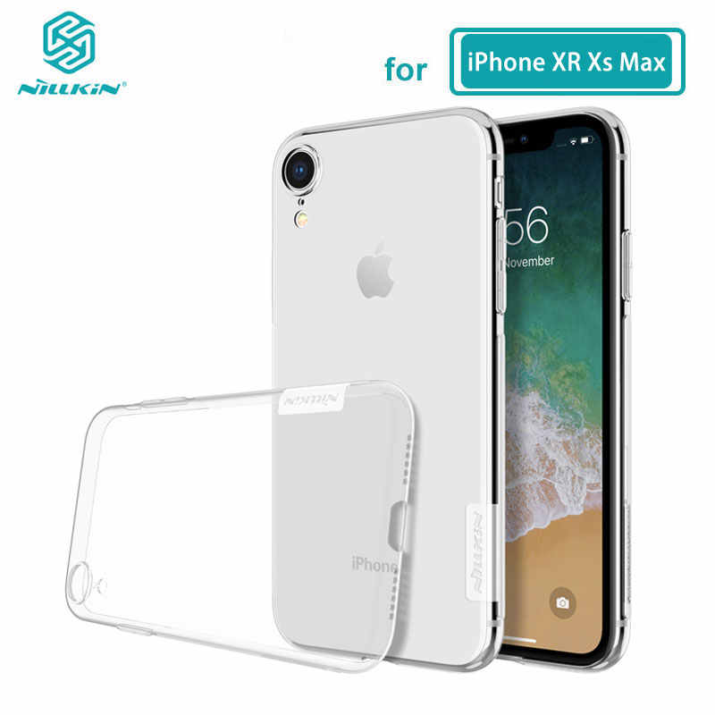 Untuk iPhone XR Case NILLKIN Nature Series Transparan Bening Casing Soft TPU Case For iPhone X Max XR 6 6S 7 Plus Cover