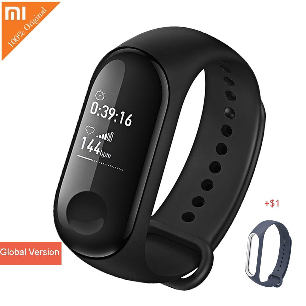 купить International Version Xiaomi Mi Band 3 Smart Bracelet BT 4.1 Wristband with Heart Rate Monitor Sport Smart Band for Smartphone по цене 2378.55 рублей