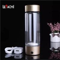 LSTACHi Portable Water Ionizer Hydrogen Generator For H2 Rich Hydrogen Water Bottle Ionizer 450ML USB Electrolysis Hidrogen