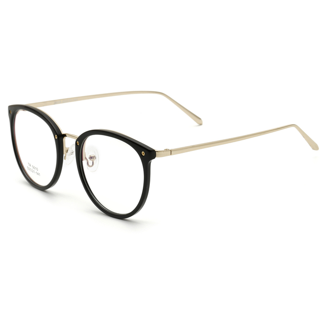 Small fresh Women Glasses Frame TR90 Diopter Computer Glasses Men Gold Round  Black Frame-in Eyewear Frames from Apparel Accessories on Aliexpress.com ... c8be522c08f