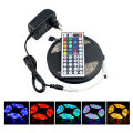 RGB single color LED Strip 5M 300Led 3528 SMD IR Remote Controller Power Adapter Led Tape Light Waterproof Home Decoration Lamps
