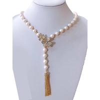 MADALENA SARARA AAA Freshwater Pearl Necklace White Pearl Necklace With Flower s925 Clasp