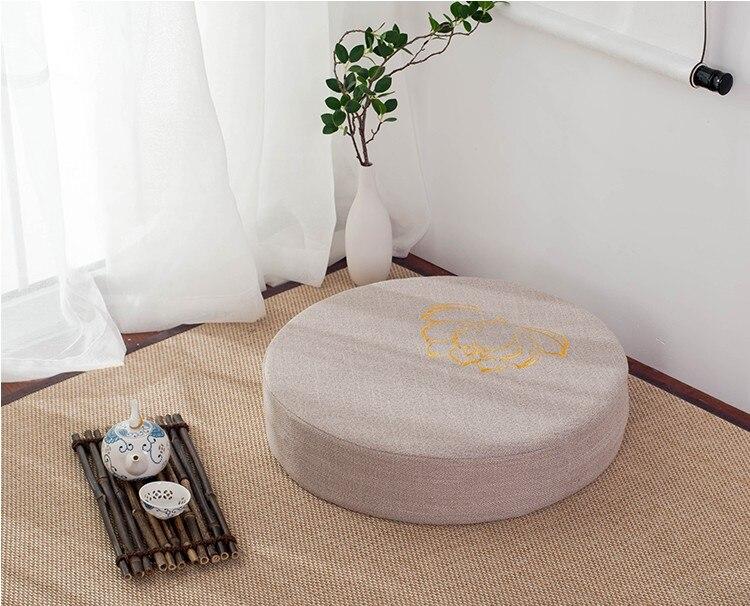 HTB101VTeW5s3KVjSZFNq6AD3FXa8 Japanese-style futon worship Buddha sitting cushion fabric washable round linen balcony window tatami mat meditation lotus