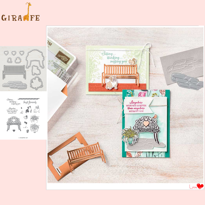 <font><b>Metal</b></font> <font><b>cutting</b></font> <font><b>dies</b></font> and stamps CHAIR dog For Scrapbooking Embossing Decorative Crafts DIY Paper Cards Stamps and <font><b>DIES</b></font> <font><b>New</b></font> <font><b>2019</b></font> image