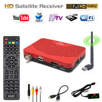 N/S America Global FTA Digital TV Box DVB-S2 Receptor Free Satellite Receiver TV Decoder Tuner Wifi Youtube iptv Vu Biss 1080P