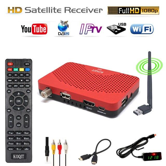 North / South America Global 1080P HD DVB-S2 Receptor FTA Digital Satellite Receiver TV Tuner Wifi Youtube Cline Vu Key Decoder