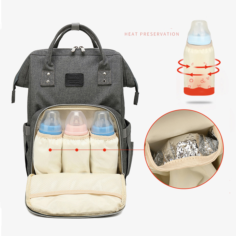 Solid Color Maternity Bag Mummy Nappy Bags For Travl Large Capacity Baby Bag Multifunction Backpack Nursing Diaper Bag Baby Care