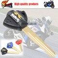 Embrión Llave en blanco Sin Cortar para Suzuki GSX GSXR 400/600/750/1000/1300 BANDIDO HUYABUSA Motocicletas envío Libre Negro