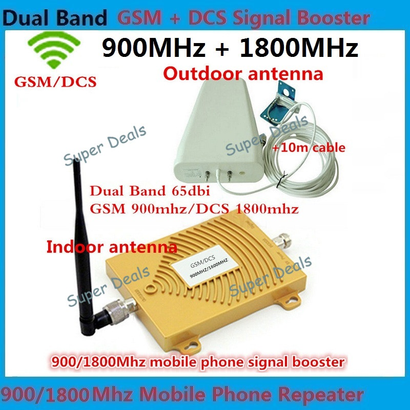 Full Sets Dual Band GSM 4G Repeater GSM 900 4G LTE 1800 FDD 65dB Gain GSM