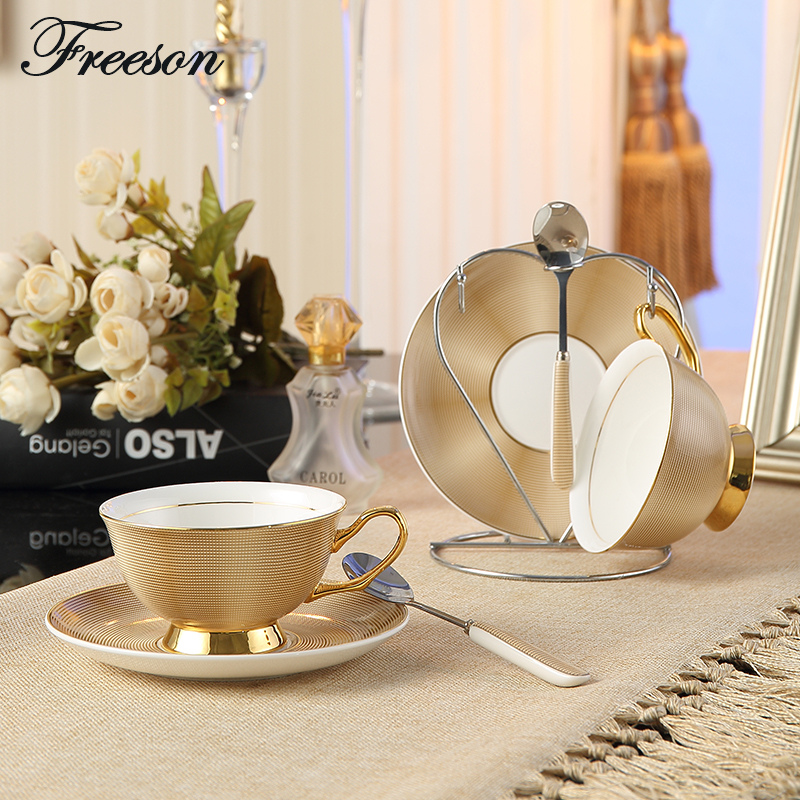 Select British Royal Bone China Coffee Cups Lover Couple Mugs Ceramic Tea Cup Saucer Set Europe