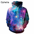 2017 Fashion Space Sweatshirt Hoodies 3D Print Hip Hop Coats Casual Sweatshirt Sportwear Tops Men Hoodies