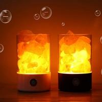 USB Crystal Light Creative Crystal Lamp Natural Himalayan Salt Lamp LED Air Purifier Light Table Lamp Bedroom