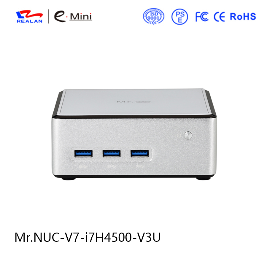 € 354 66 |V7 nuc intel core i7 procesador h4500 thin client mini pc  barebone apoyo windows 10 linux android hdmi vga en Mini PC de Ordenador y