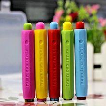 Горячая беспыльный держатель мела ручка мел клип для учителя Porta Tiza на классной доске Наклейка Доска