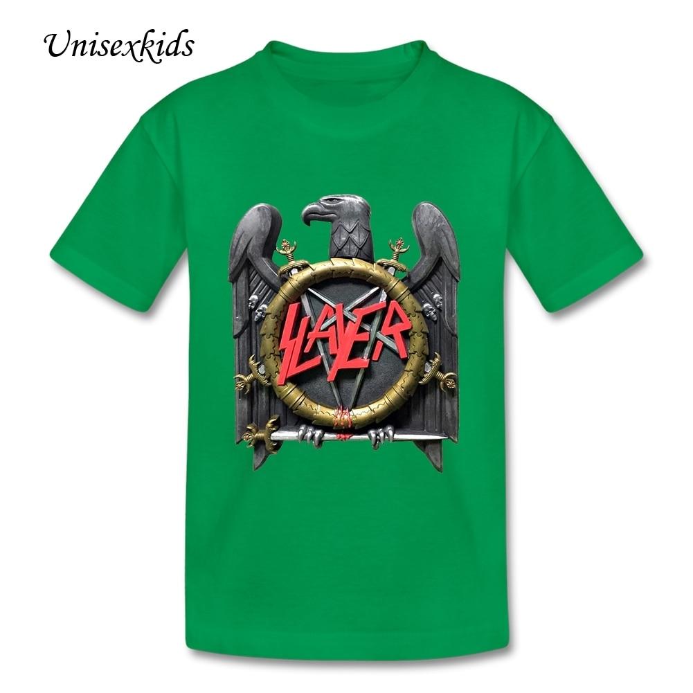 Shirt design for baby girl - Slayer T Shirt Boys Girls O Neck Summer Shirt Children Graphic Rock Band T Shirt Short Sleeve Baby Kids Printed Design Cloth